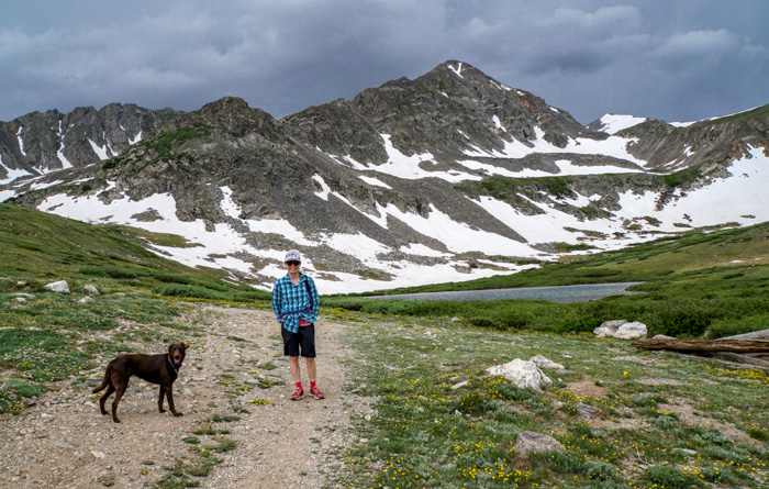 Cat and Keeley on Crystal Lake Trail near Breckenridge