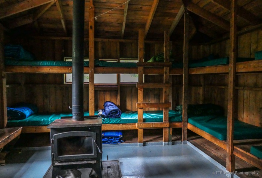 bunkbeds in Ridgway hut on the Sneffels Traverse