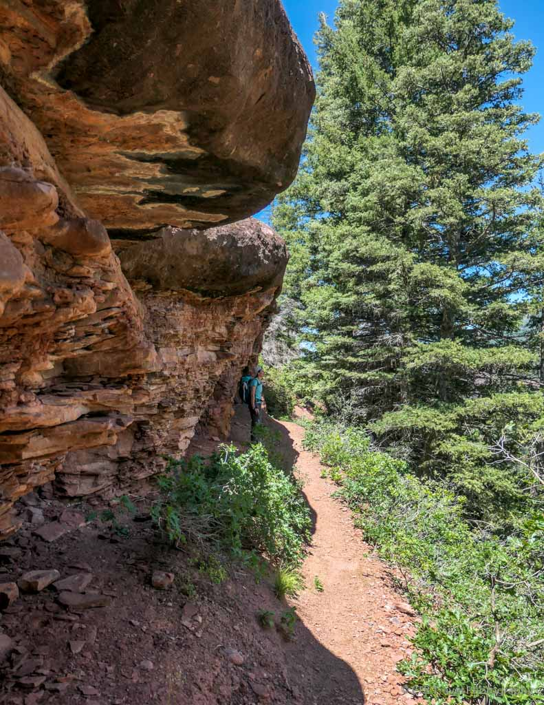 sandstone cliff on the Sneffels Traverse