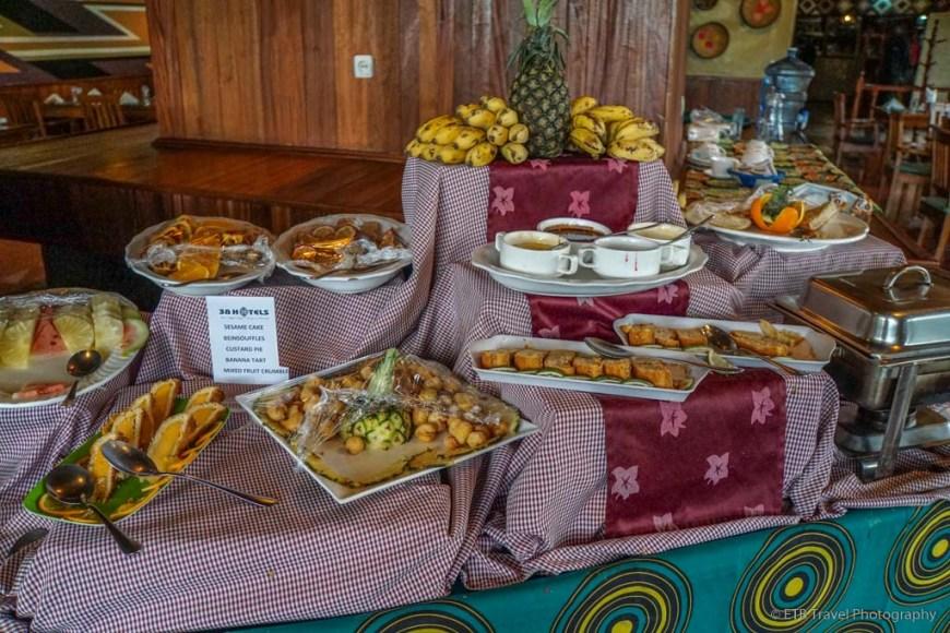 dessert buffet at Mountain Gorilla View Lodge