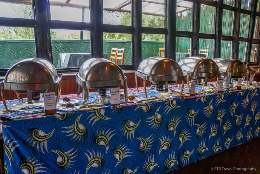 buffet at Mountain Gorilla View Lodge