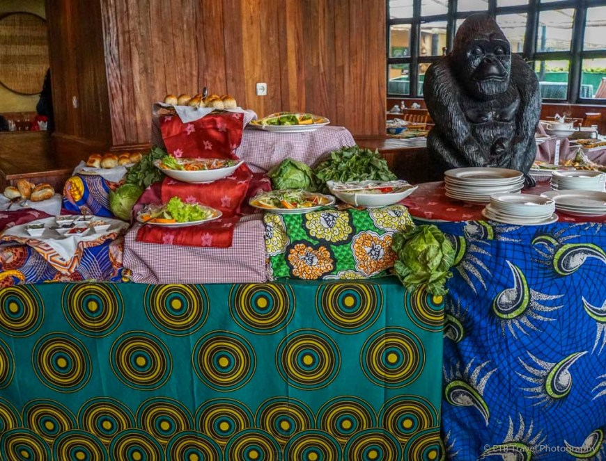 salad bar at Mountain Gorilla View Lodge