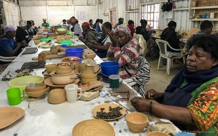 making beads by hand at Kazuri in Nairobi