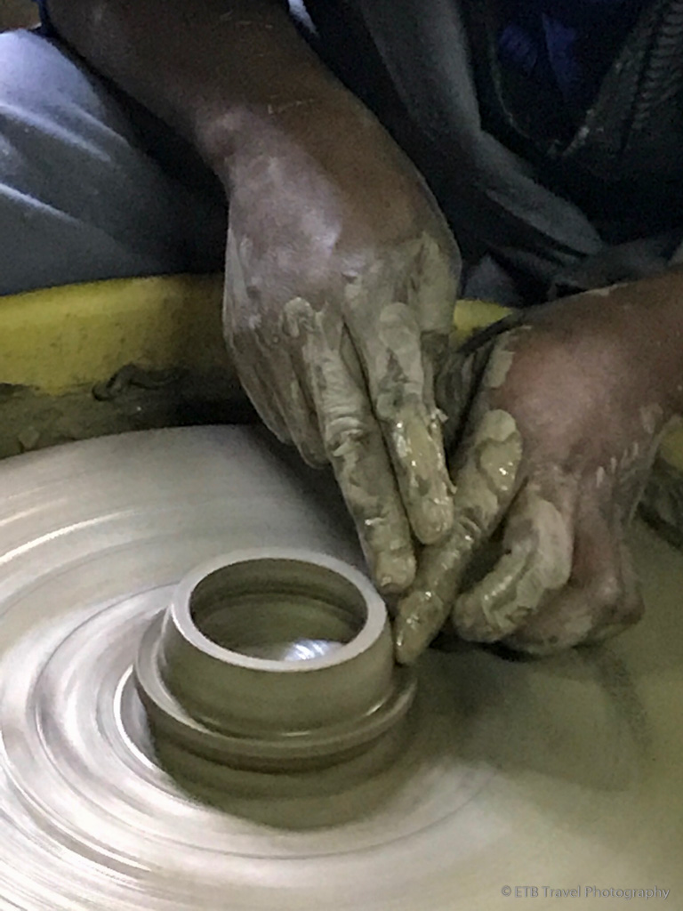 pottery making at Kazuri