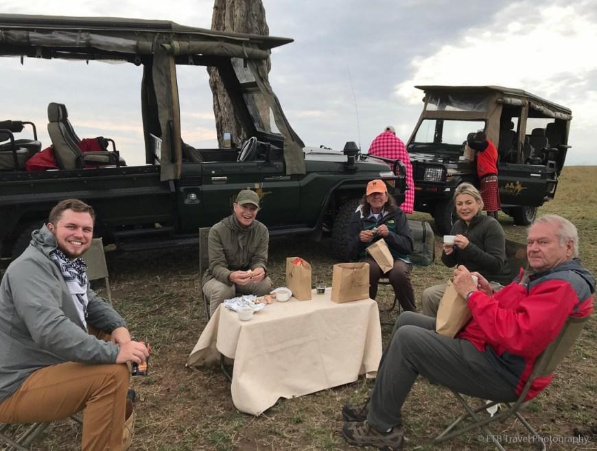 breakfast in the Masai Mara