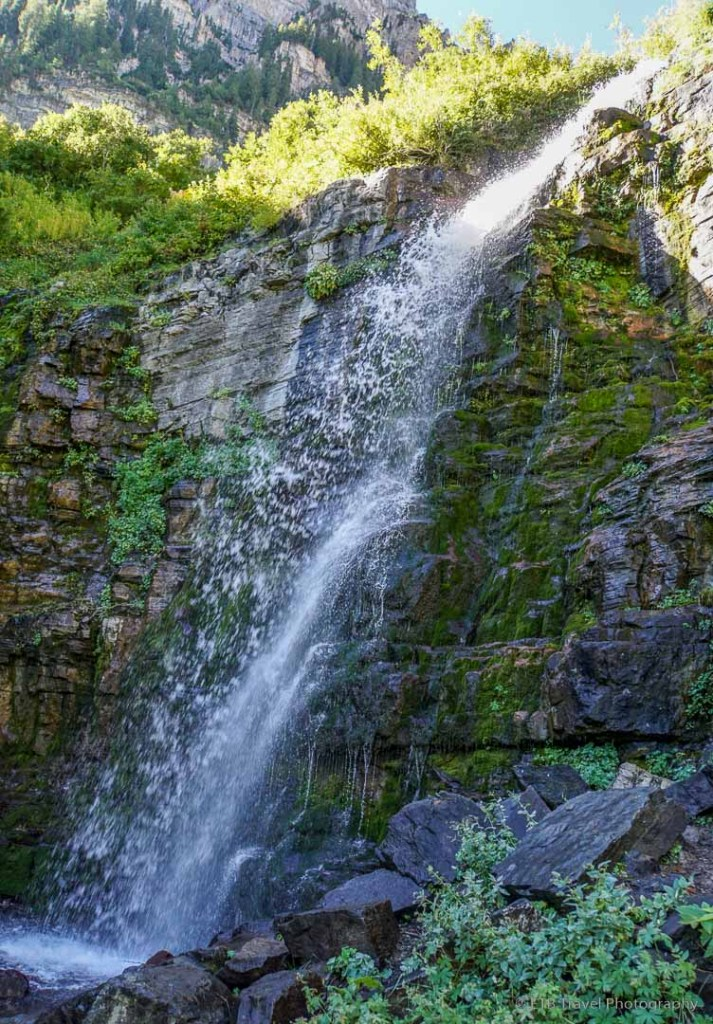 Second waterfall on Aspen Grove Trail