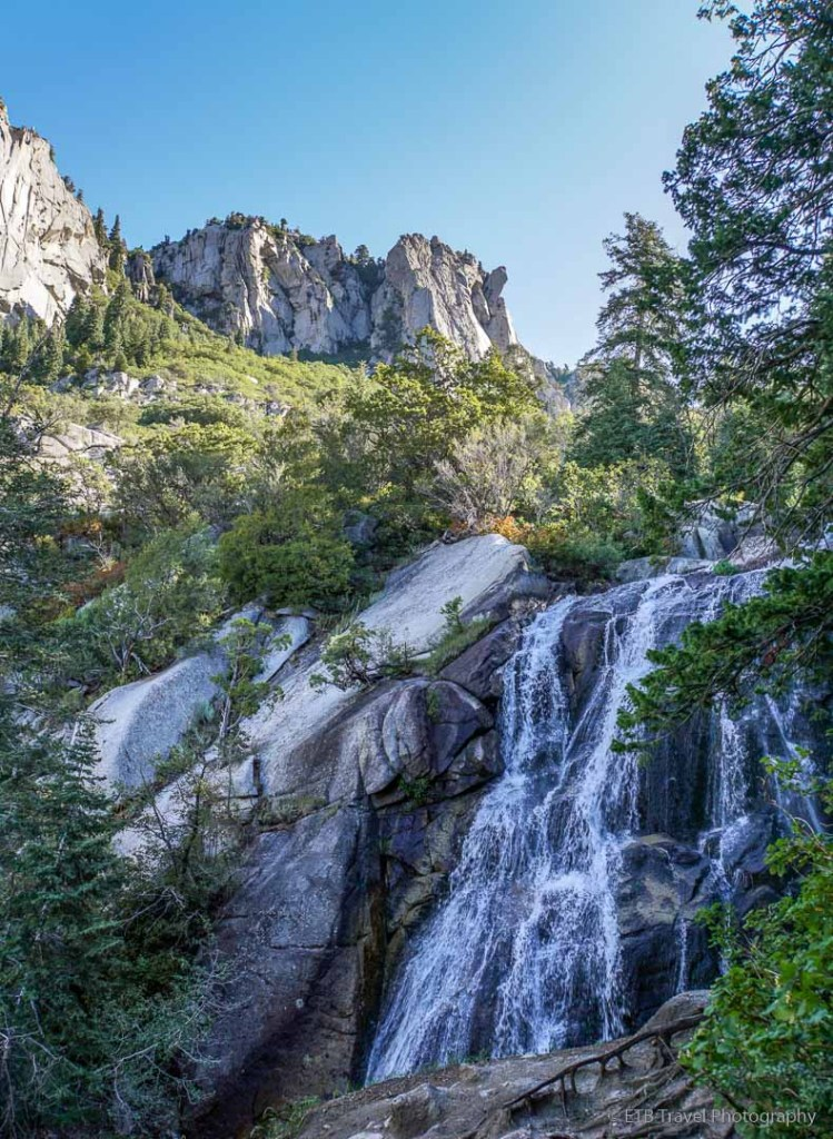 lower falls in Bells Canyon