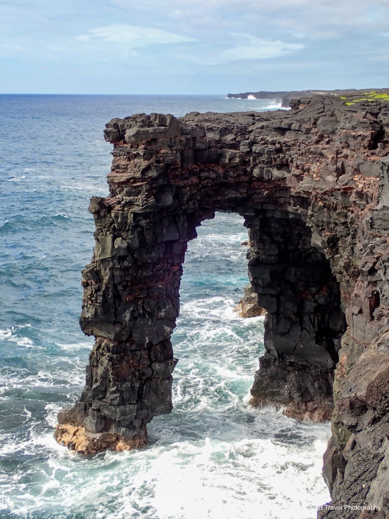 Holei Sea Arch in Hawai'i Volcanoes National park