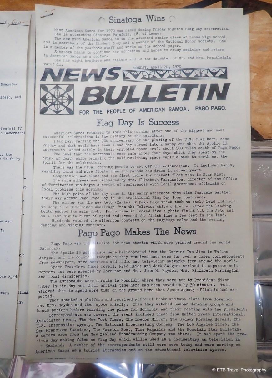 American Samoa Bulletin