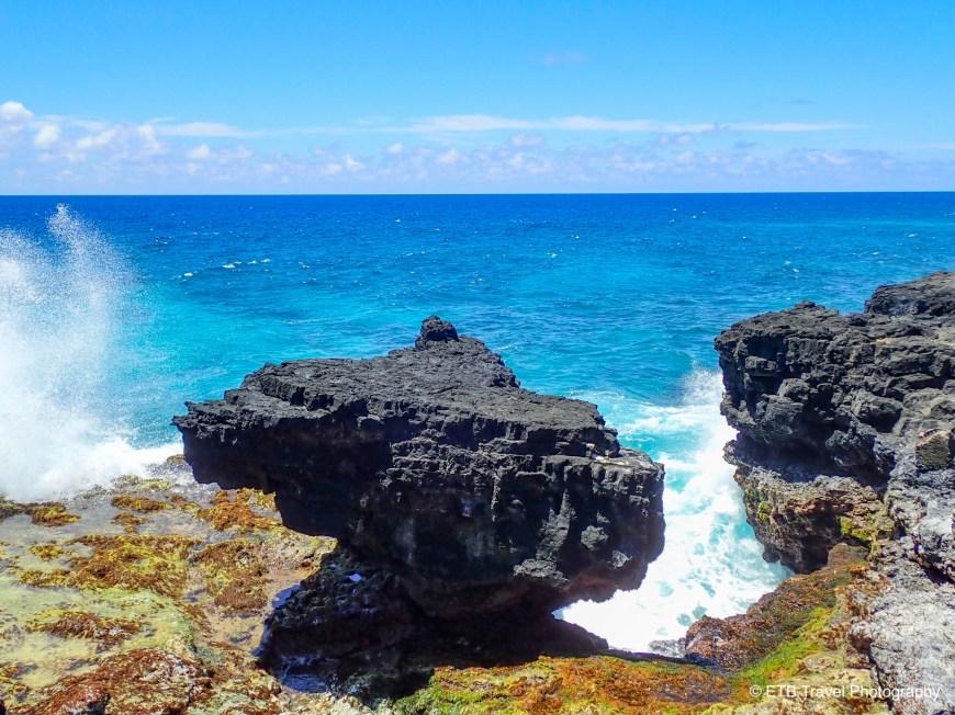 Cliffs at Turtke and Shark In American Samoa