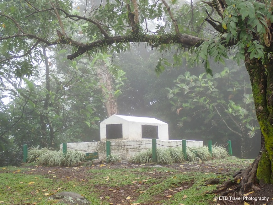 RLS grave on Mt Vaea