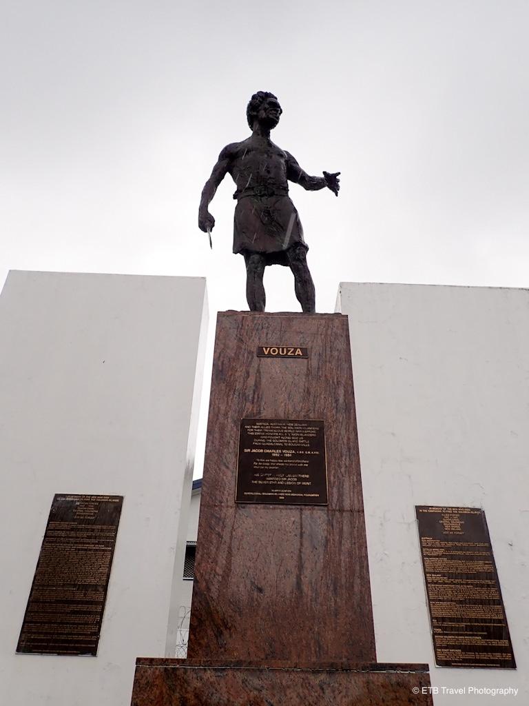 jacob vouza monument in honiara
