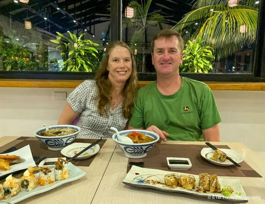 dustin and julie at tenkai in honiara