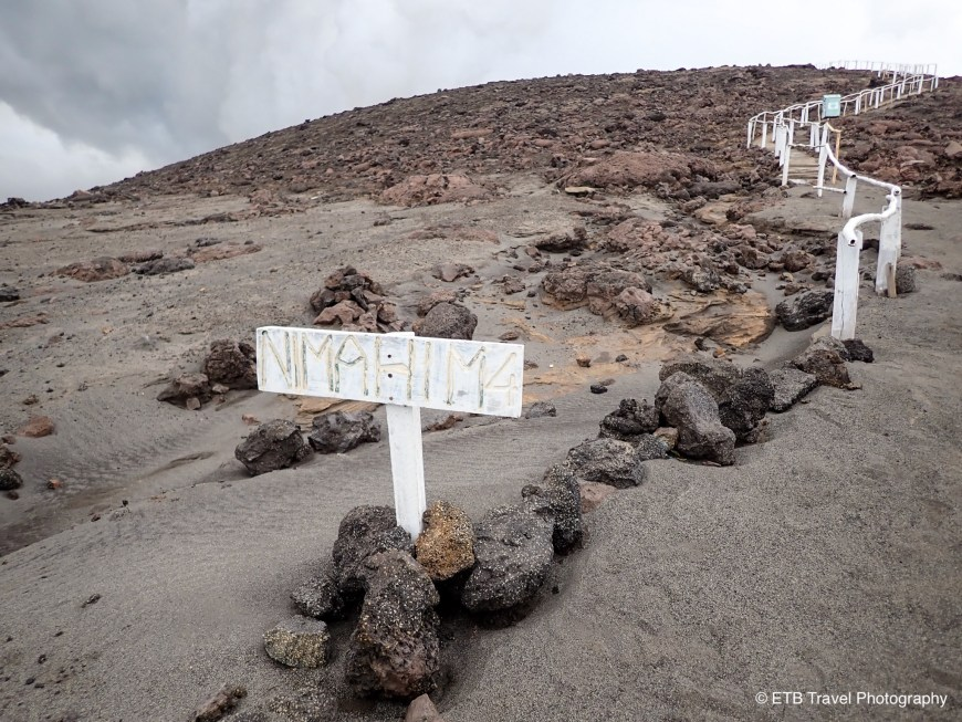The stairs up to Mount Yasur