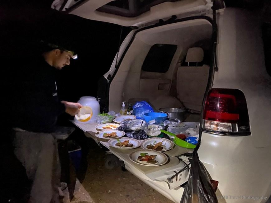 gourmet camp meal at al hadd