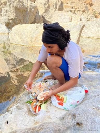 lunch in wadi bani khalid