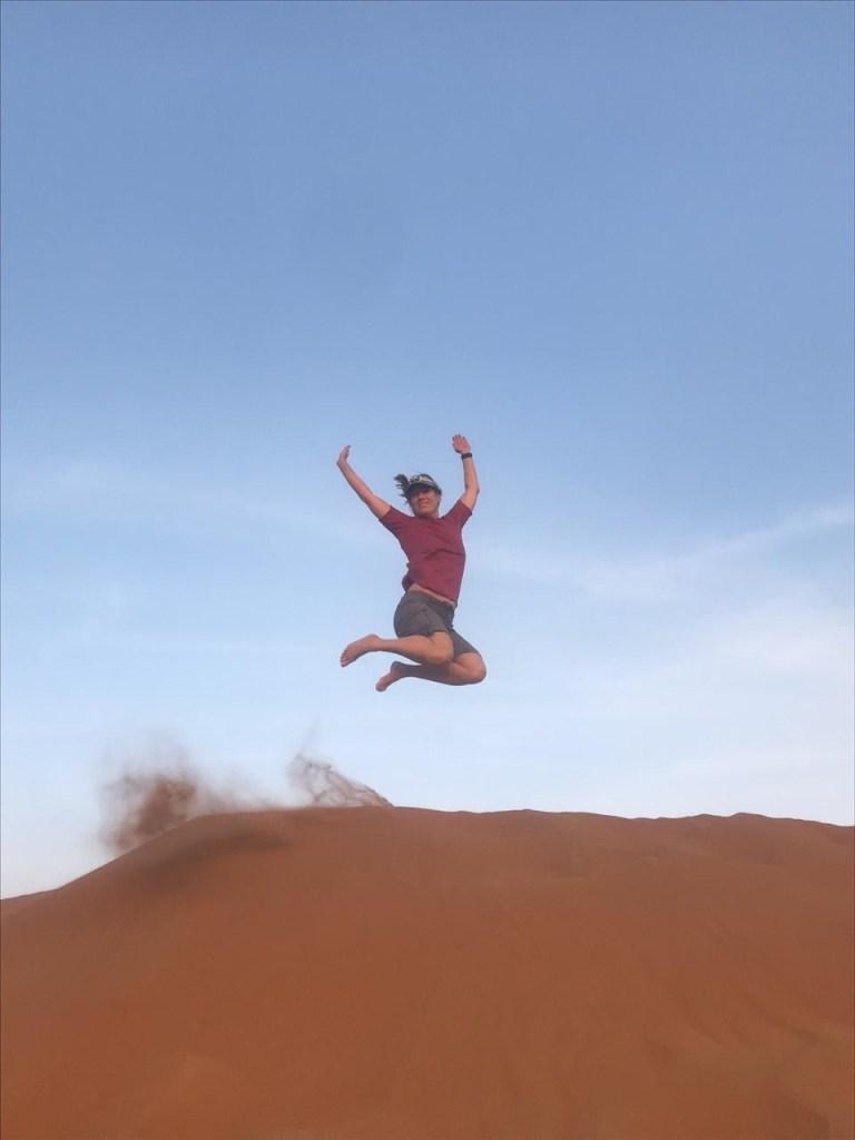 jump in Sharqiya Sands