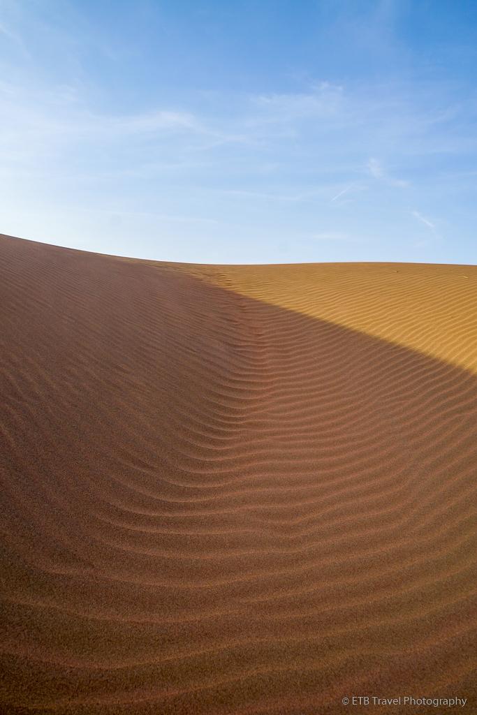 sand dune in Sharqiya Sands