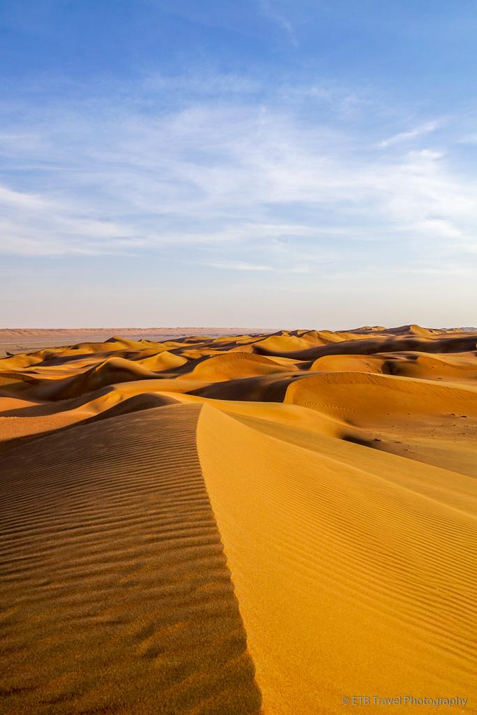 sand dune ridges in Sharqiya Sands