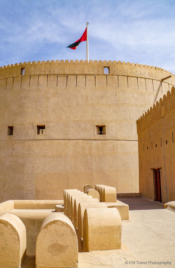 circular tower at nizwa fort