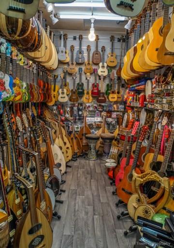 guitars in Jerusalem's central souk