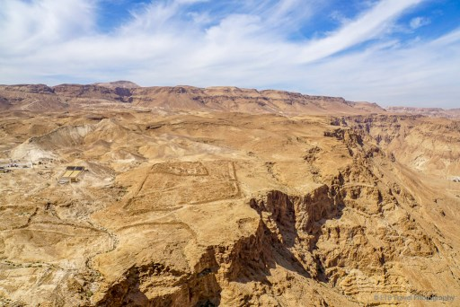 Remains of Roman camps at Masada National Park