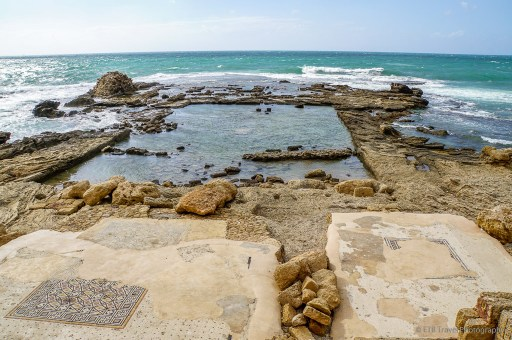 the pool at Caesarea on the Mediterranean Coast
