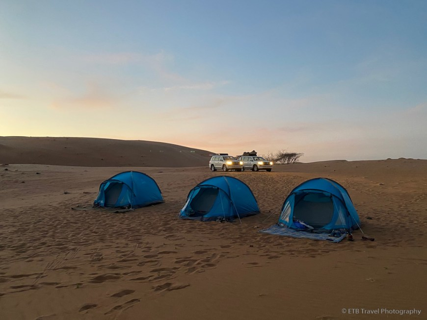 our campsite in Sharqiya Sands
