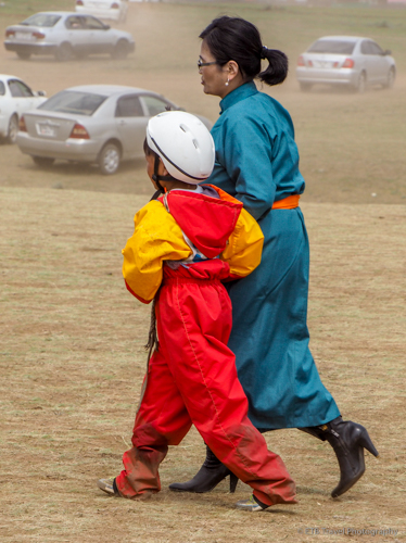 young horse racer and mother at naadam