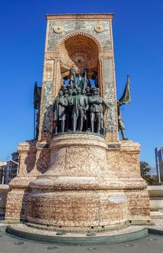 Republic Monument in Taksim Square in Beyoĝlu, Istanbul