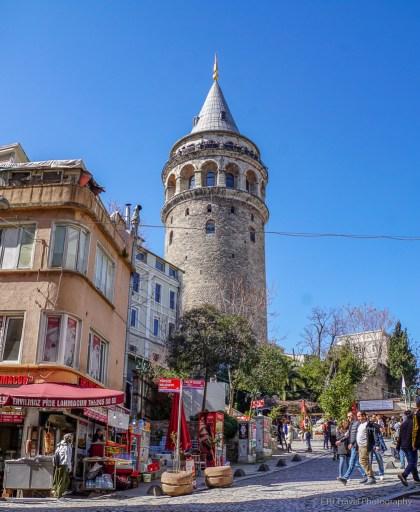 galata tower in Beyoĝlu Istanbul