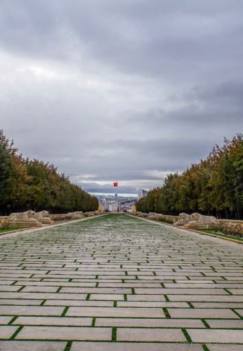Lion's path at Antikabir in Ankara