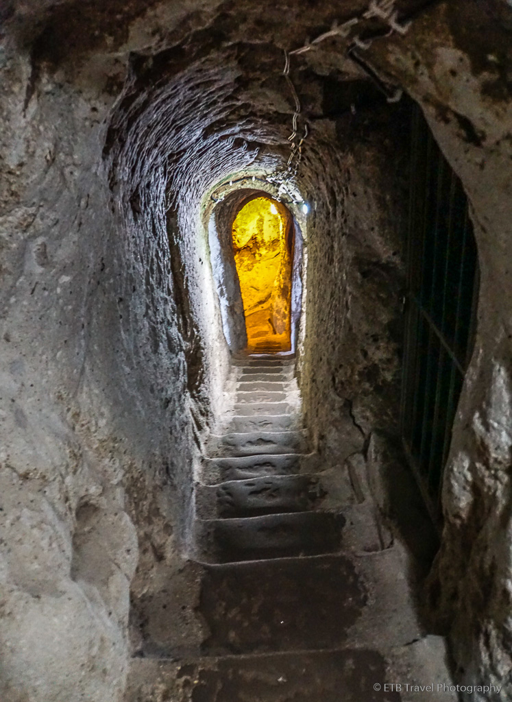 stairs in derinkuyu underground city in cappadocia
