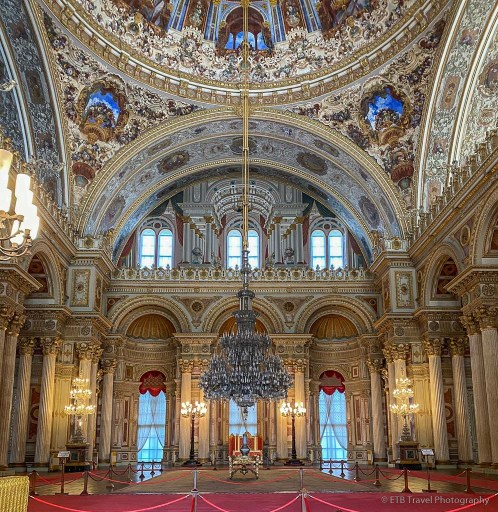 imperial hall at dolmabahce palace in istanbul
