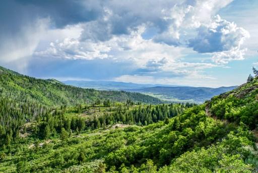 view from uranium mine trail