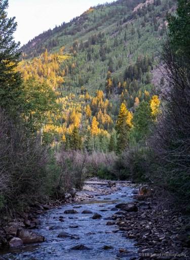 creek at the trailhead of missouri mountain