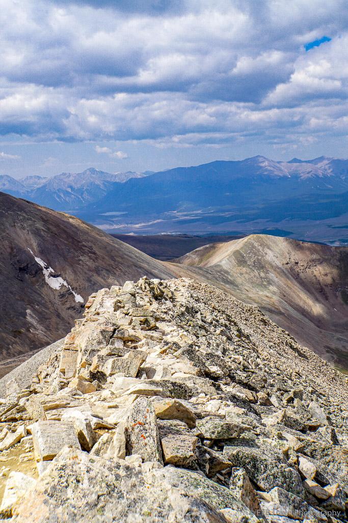 descending Mt. Sherman