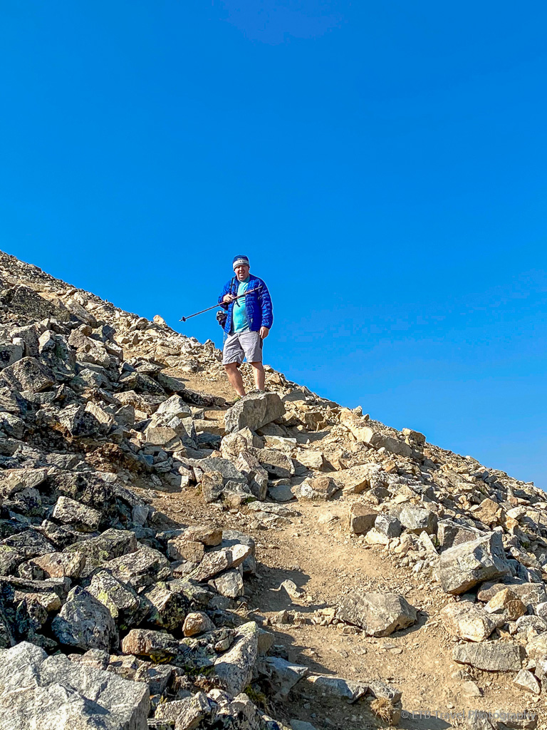 colin near the summit