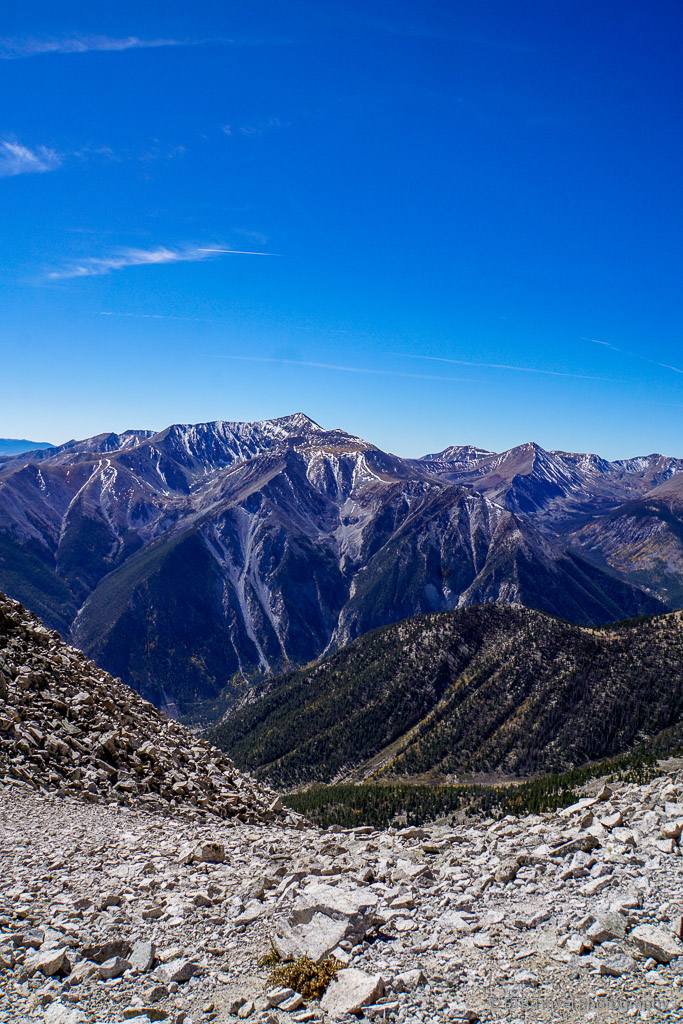 view from ridge of mount princeton