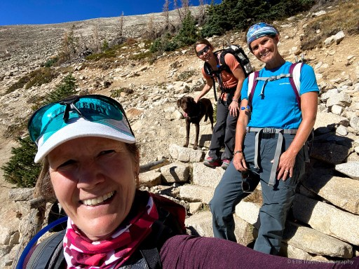 at the single-track trail to mount princeton