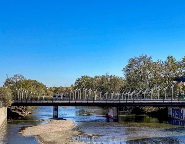 denver wastewater bridge on the platte river trail