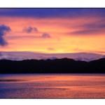 photographic note card, palau sunset