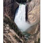photographic note card, Waterfall in Yellowstone
