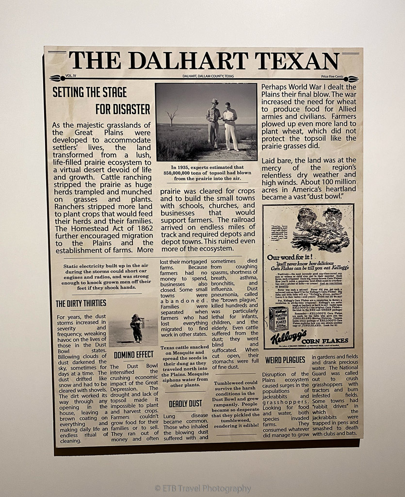 dust bowl newspaper article at xit museum