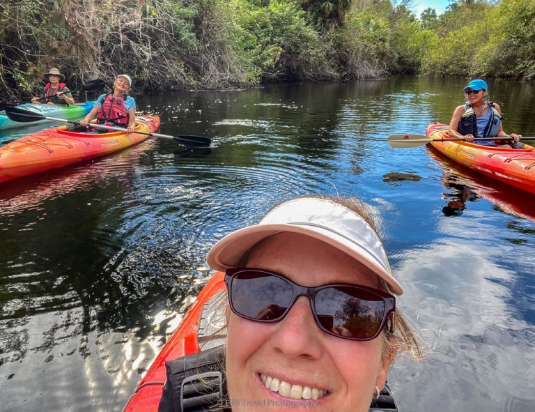 kayaking in the swamp in the everglades