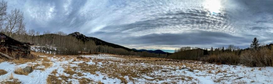 view of meadow from John Frazer Cabin