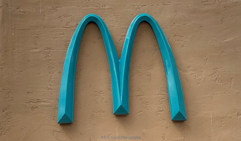 turquoise golden arches in sedona