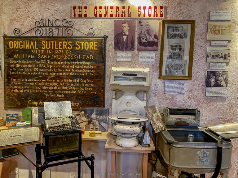 museum at the visitor center in camp verde