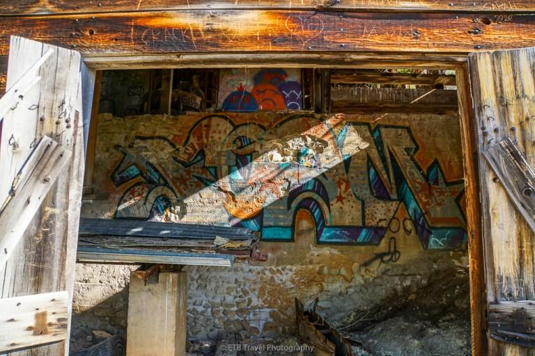 grafitti at adelmann mine
