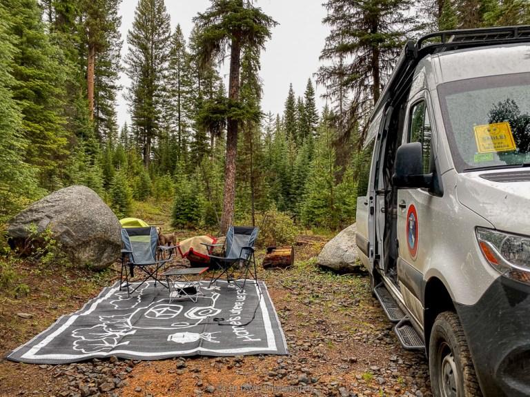 campsite near payette lake